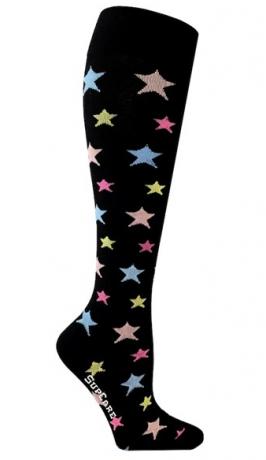 Stödstrumpor - Stjärnor Pastell (40-42)